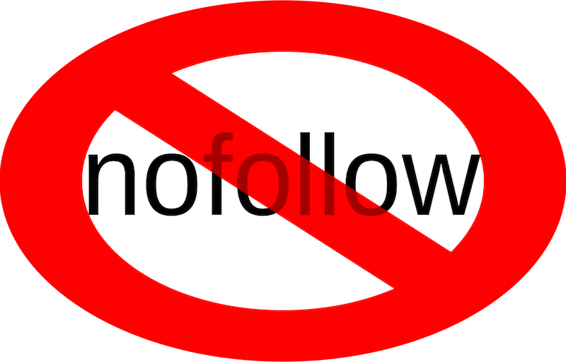 No follow sign